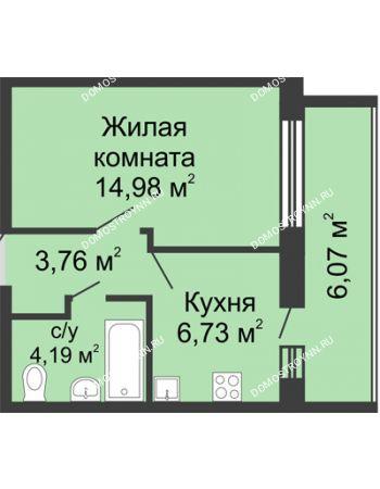 1 комнатная квартира 32,7 м² - ЖК Волжский-Берег
