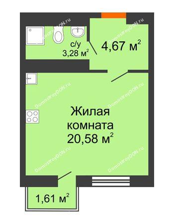 Студия 28,86 м² в ЖК Мечников, дом ул. Таврическая, 4