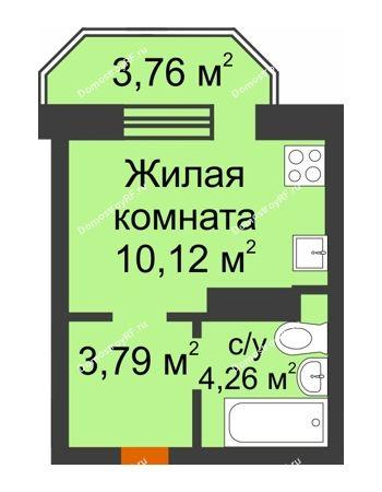 Студия 19,3 м² в ЖК Светлоград, дом Литер 16