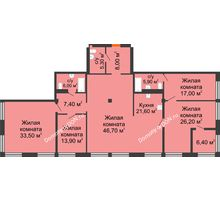5 комнатная квартира 191,4 м², ЖК Богатяновский - планировка