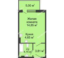 Студия 32,46 м² в ЖК Времена Года, дом № 1