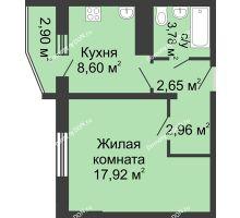 1 комнатная квартира 37,36 м² в ЖК Французский квартал, дом Корпус 6-11