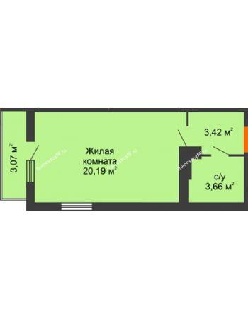 Студия 28,13 м² в ЖК Семейный парк, дом Литер 2