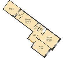 2 комнатная квартира 84,3 м² - ЖК Симфония Нижнего