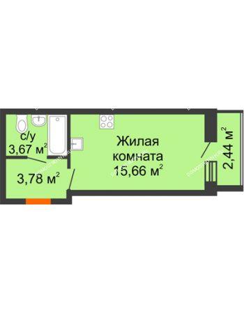 Студия 24,33 м² в ЖК АВИА, дом № 2