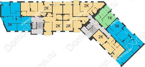 Планировка 3 этажа в доме №1 в ЖК Воскресенская слобода
