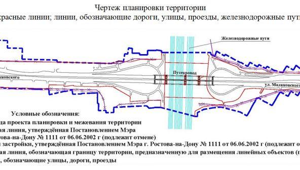 Реконструкция путепровода на ул. Малиновского в Ростове
