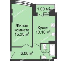 1 комнатная квартира 35,8 м² - ЖК Дом 35 Линия