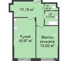 1 комнатная квартира 46,47 м² в ЖК Клевер, дом № 1